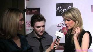 Kathryn Morris and Kyle Gallner at Premiere of Cougars Inc.