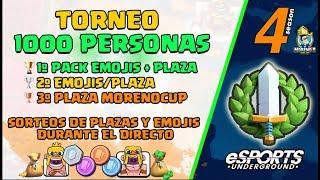 TORNEO DE 1.000 PERSONAS CON PREMIOS  PARA LOS 3 PRIMEROS SORTEO PACK EMOJIS + BRACKET 800€