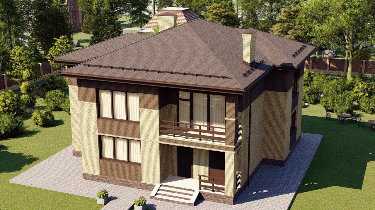Проект дома 232-A, Площадь дома: 232 м2, Размер дома:  14,9x13,2 м
