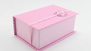 Caixa Livro - Forração Em Papel - Cartonagem