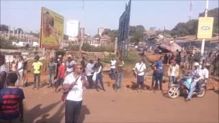 Les élèves manifestent à Matoto