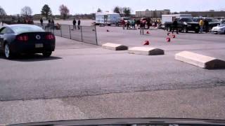 SCCA Solo @ Dover International Speedway-Run 4 (55.xxx) 3/20/11-Roof Cam