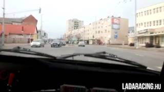 Lada with Drenth sequential gearbox in traffic. | LADARACING.hu