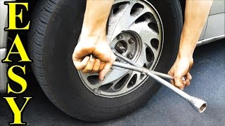 How to Change a Tire (plus jacking it up)