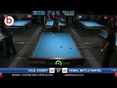 CELİL ATABEY & KEMAL MUTLU KARTAL Bilardo Maçı - 2018 ERKEKLER 3.ETAP-3.TUR