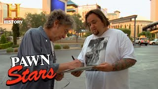 Pawn Stars: Chumlee Gets Bob Dylan's Autograph (Season 3) | History