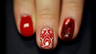Red Glitter Nail Art Using NailHugs! - Video Youtube