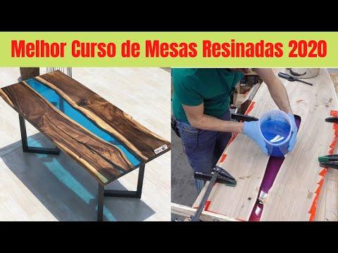 MESA com RESINA EPXI - APRENDA a FAZER MESA de MADEIRA com RESINA EPXI - MESA DE RESINA
