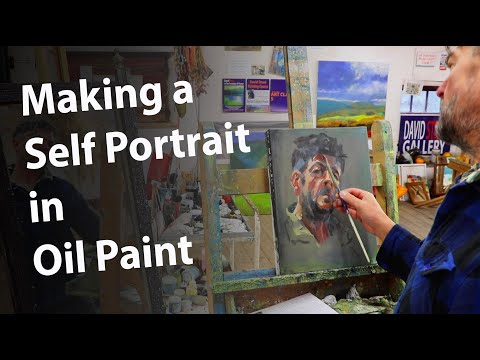 Thumbnail of Painting a self portrait in oil