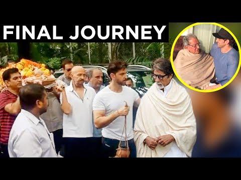 Hrithik Roshans Grandfather J Om Prakash Funeral  