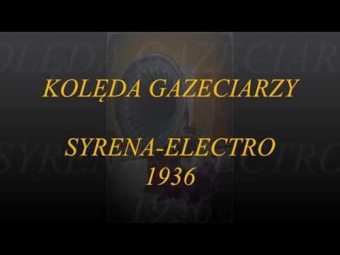KOLĘDA GAZECIARZY- MIRA GRELICHOWSKA & CHÓR JURANDA 1936!