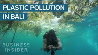 A British Diver Records Shocking Images of Himself Swimming Through a Sea of Plastic Waste Off the C