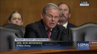 Menendez Continues Questioning Mnuchin on Conflicts of Interest