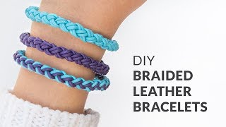DIY Round Braid Leather Friendship Bracelets | Curly Made