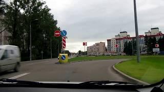 Въезд в Гатчину  с Пушкинского шоссе