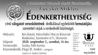 Fucskó Miklós: Édenkerthelyiség című könyvének bemutatója Budakalászon