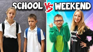 MORNING ROUTINE!!! SCHOOL DAY vs WEEKEND