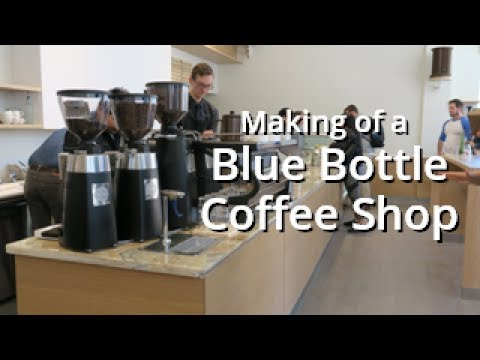 Making of the Blue Bottle Coffee Shop, Pacific Heights, San Francisco