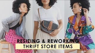 THRIFT HACKS! Simple Ways To Alter & DOWNSIZE Thrift Store Items TIPS & TRICKS💡