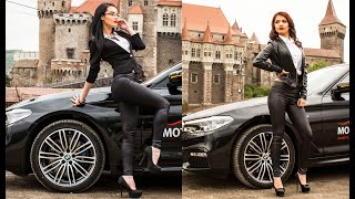 FAUX LEATHER LEGGINGS AND BLACK HIGH HEELS | BLACK CAR OUTFIT