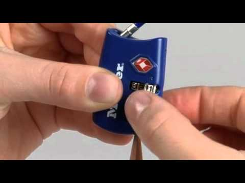 Screen capture of Operating the Master Lock 4688D TSA-Accepted Combination Luggage Lock