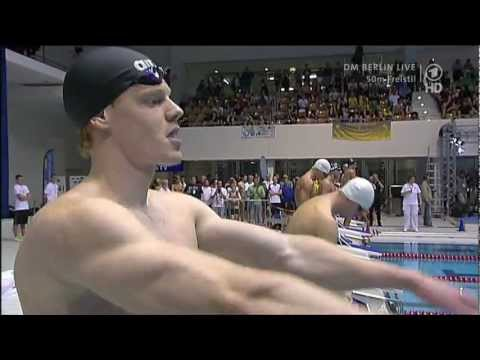 DM 2012 - Finale 50m Freistil der Männer