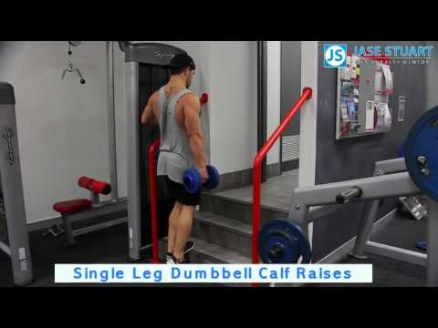 Single Leg Dumbbell Calf Raises