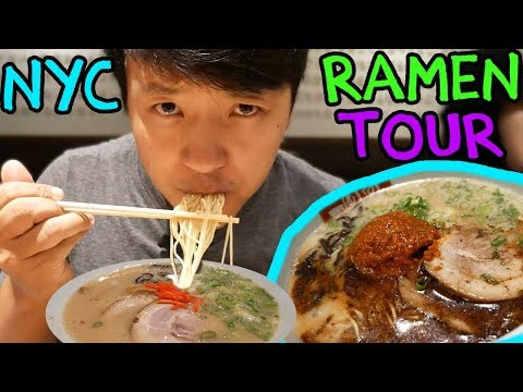 BEST Ramen Noodles in New York! New York City Ramen Tour Part 1