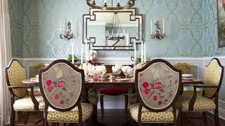15 Greenish Blue Formal Dining Room
