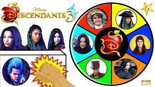 Win Goldie's Treasure of  DESCENDANTS 3 Dolls in the Spinning Wheel Game