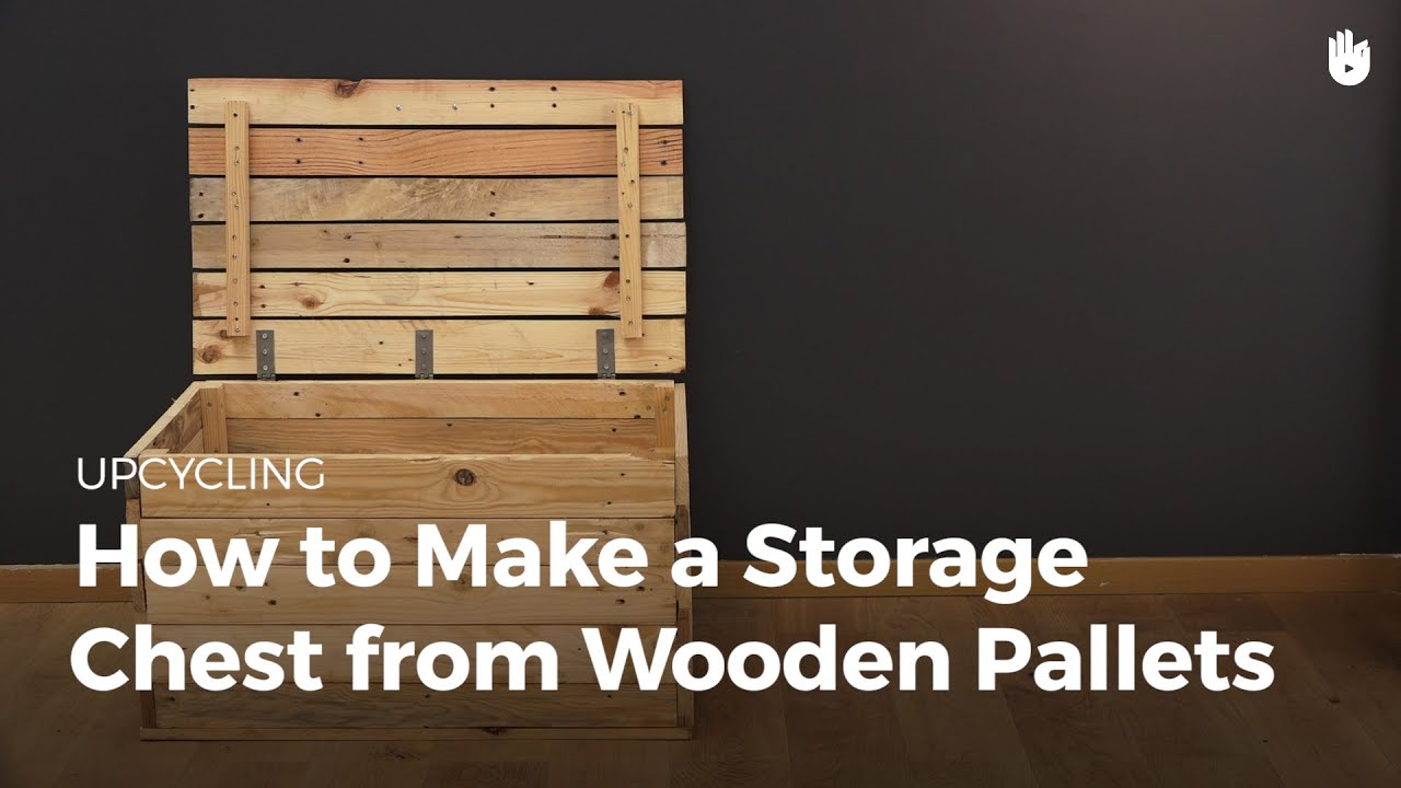 Make A Storage Trunk From Wooden Pallets Recycling
