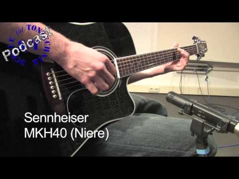Mikrofonvergleich Akustik Gitarre Schule für Tontechnik Video Podcast Folge 3, Teil 1/2