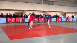Влад Кукоара - Паланчика Денис Чемпионат Республики по боевому самбо 2015