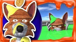 Lobo Beto en la Piscina Gigante de SLIME de Colores   SLIME #3   A Jugar