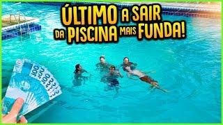 ULTIMO A SAIR DA PISCINA MAIS FUNDA GANHA 5000 R$!! [ REZENDE EVIL ]