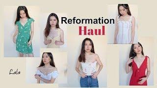 【Reformation】夏季服饰购物分享   7件连衣裙上衣试穿 (打折季来啦😄) REFORMATION TRY ON HAUL