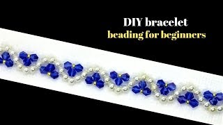 Beading Tutorial For DIY Beaded Bracelet-Simple Beading Pattern For Beginners