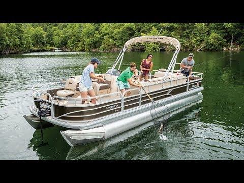 Sun Tracker Fishin' Barge 24 XP3video