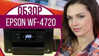 Обзор  МФУ Epson WorkForce  PRO WF-4720 с Дариной