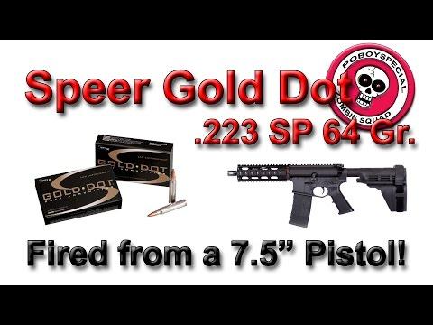 Speer Gold Dot 223 Duty Ammunition Ballistic Gelatin Test