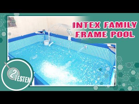 Intex Family Frame Pool | Kleinkinder geeigneter Umbau | Aufbau / Anleitung / Maße / Düsen Höhe