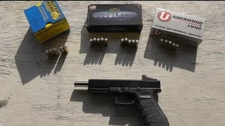 Glock 20 10mm - Hard Cast Ammo Test - Accuracy, Velocity, Recoil