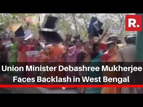 TMC Supporters Raise 'Go back' Slogans Against Union Minister Debashree Mukherjee In West Bengal
