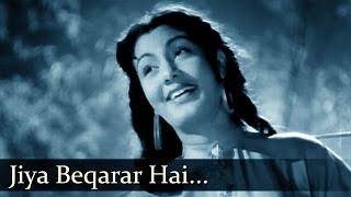 Barsaat - Jiya Beqarar Hai Chhayee Bahar - Lata   - YouTube