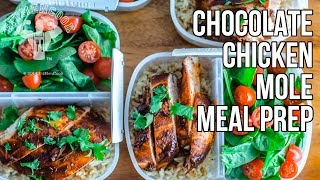 Healthy Chocolate Chicken Mole Bodybuilding Meal Prep Hack / Pollo con Mole Mexicano