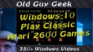 Play Classic Atari 2600 Games on Windows 10. Donkey Kong, Asteroids.