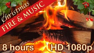 ☆ 8 HOURS ☆ CHRISTMAS MUSIC with FIREPLACE ♫ Christmas Music Instrumental ☆ LONG playlist