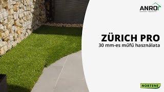 Nortene Zürich Pro 30 mm-es műfű használata teraszon - kreatív terasz szépítés McMenemy Márkkal