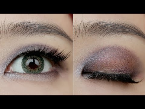 How To Widen Small, Asian Eyes & Monolid | Grungy Purple Eyes Makeup Tutorial