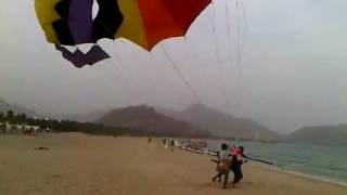preview picture of video 'PARASAIL IN UAE KHORFAKKAN 1.3GP'